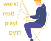 dvt - know the symptoms - man sat at computer