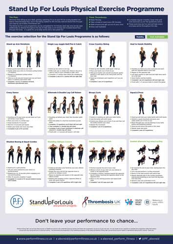 #standupforlouis exercises poster a3