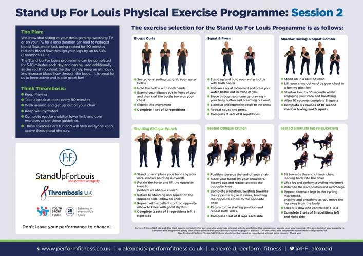 #standupforlouis exercises poster a4 session 2